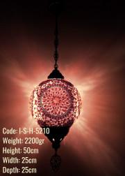 25 lik Top  Mozaik Cam Metal Sıvama Askılı Lamba - I-S-H-5210