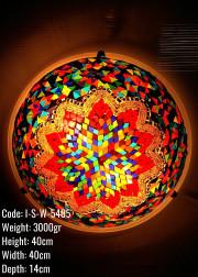 Mozaik Plafonyer 40 lık Metal Mozaik Lamba / Duvar Lambasi Otantik Aplik - I-S-W-5405