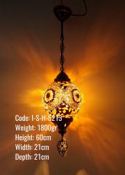 20 lik  Top Mozaik Cam Metal Sıvama Askılı Lamba - I-S-H-5213