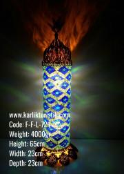 Mozaik Telkari Silindir Boru Dizayn Lambader - F-F-L-721