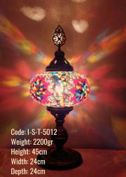 Mozaik Cam Masa Lambası Abajur No:5 Boy - I-S-T-5012