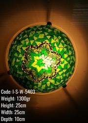25 lik Mozaik Plafonyer Metal Mozaik Lamba / Duvar Lambasi Otantik - I-S-W-5403