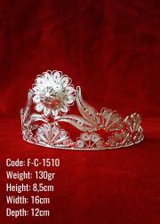 Bakır Telkari El Emeği Orijinal Gümüş Kaplama Kina / Nişan  Tacı - F-C-1510