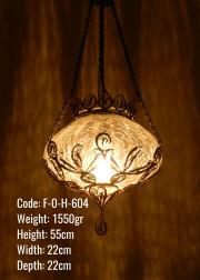 Osmanlı Bakır Telkari Askılı Orta Ufo Lamba - F-O-H-604