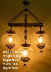 Osmanlı 3 lü Orta Ufo Dikdörtgen Set - F-C-O-414