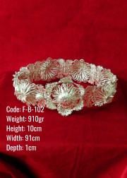 El Emeği Bakır Telkari Orijinal Gümüş Kaplama Kalın Kemer - F-B-102